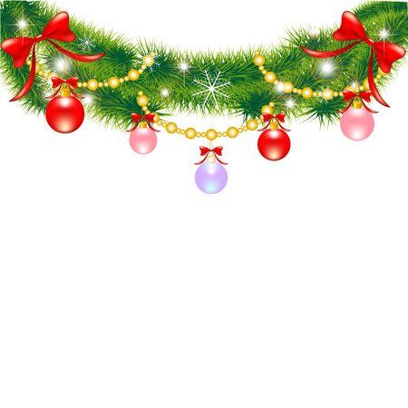 chaplet: christmas branch Illustration