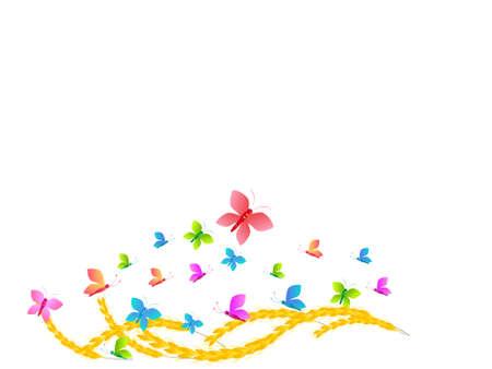 corn flower: flowers