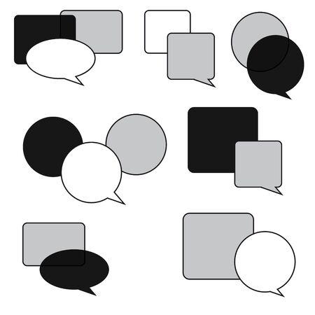 speech buble: Set of bubbles