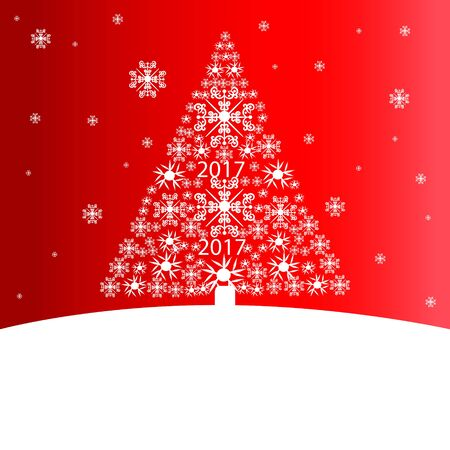 holiday: Christmas tree, holiday card