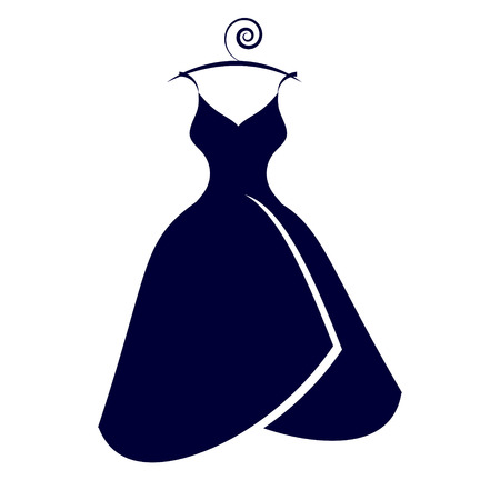 Wedding dress design, isolated on  a white