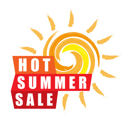 Summer sale banner design template for promotion. Illustration