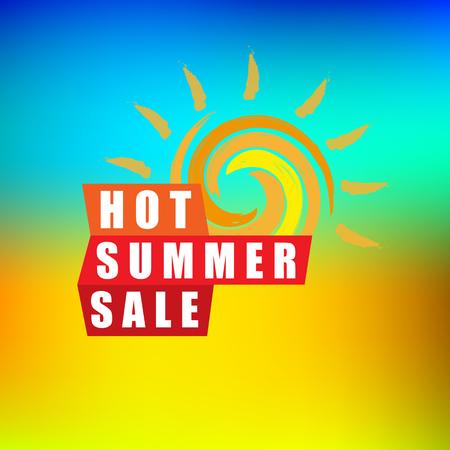 Summer sale banner design template for promotion. Illustration