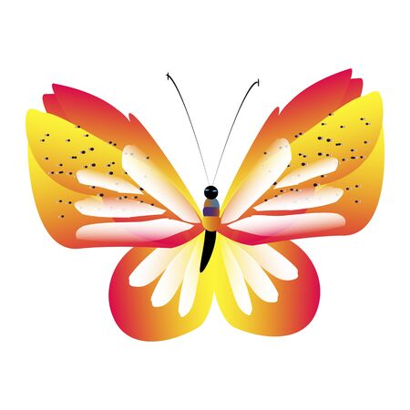 beautiful red butterflies, isolated on a white Ilustracja