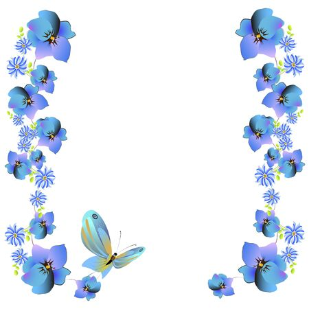 beautiful butterflies, blue,isolated on a white Archivio Fotografico - 138388333