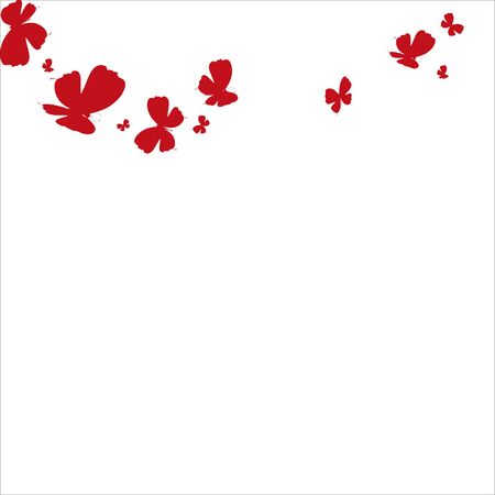 beautiful red butterflies, isolated on a white Illusztráció