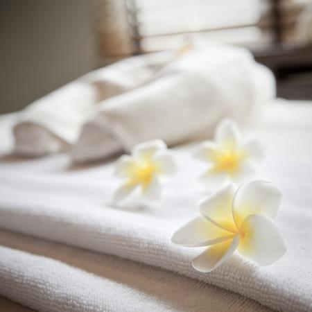 toalla: Bienestar y el concepto de spa Foto de archivo