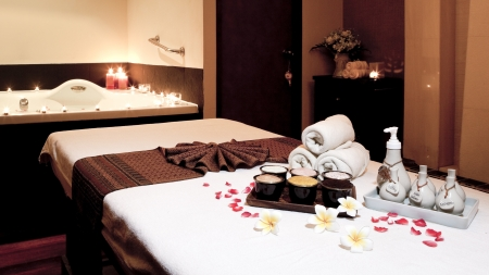 candles spa: Wellness and spa concept