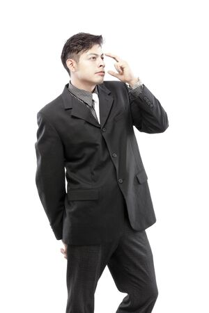 Businessman is thinking of new ideas photo