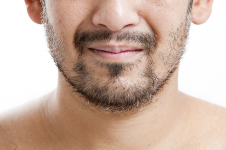 Man with short beard closeup