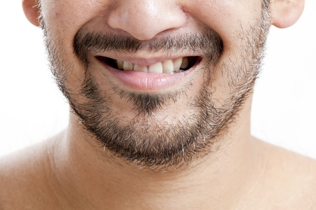 Closeup of man with short beard smiling
