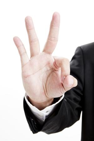 Hand showing OK gesture
