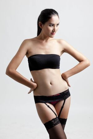 Sexy woman in black photo