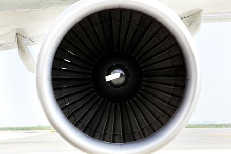turbofan: Jet engine of airplane Stock Photo