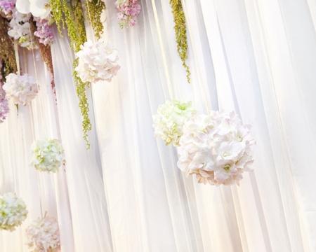 Beautiful flower wedding decoration Stock Photo