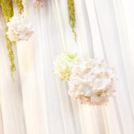 Close up of beautiful flower wedding decoration