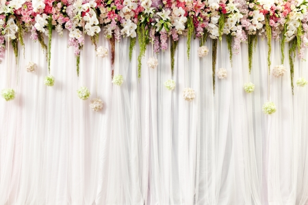 Beautiful flower wedding decoration Foto de archivo