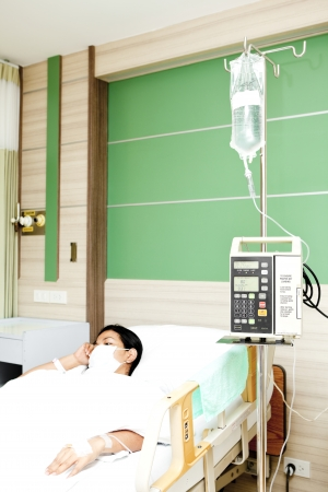 A patient in a hospital ward photo