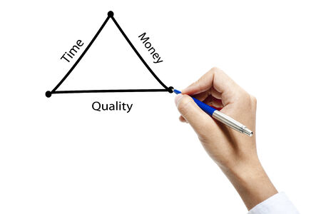 Business illustration of project management triangle  illustration