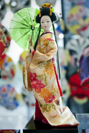 Japanese doll in traditional costume Stock Photo - 25213502