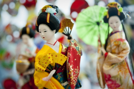 Japanese doll in traditional costume