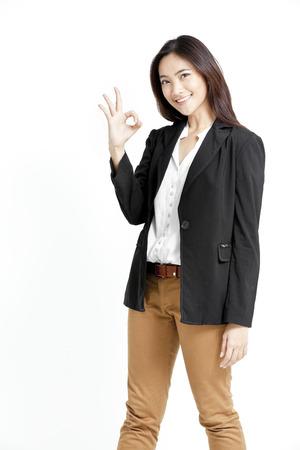 Pretty woman in black jacket Stock Photo