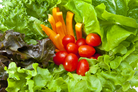Close up of fresh vegetables photo