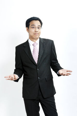 don't: Businessman showing a don t know expression Stock Photo