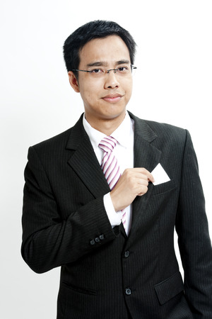 Businessman giving his name card photo