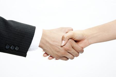 estrechando mano: Hombre de negocios d�ndose la mano Foto de archivo