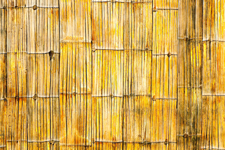 Background of bamboo fence Stock Photo