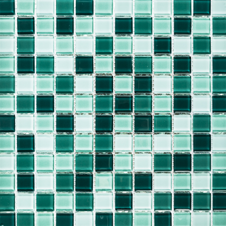 Background of emerald green tiles