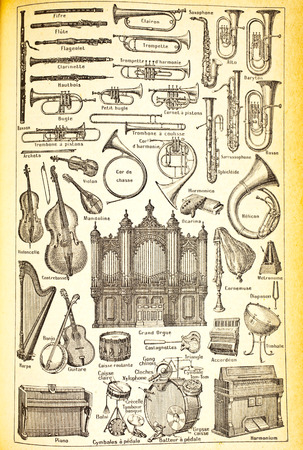 Various musical instruments Stock Photo