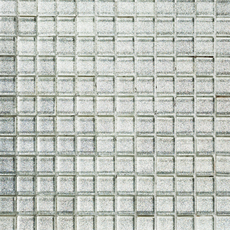 Background of silver tiles Stock Photo