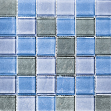 Background of blue tiles