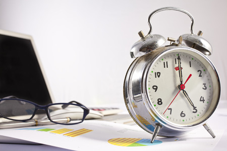 working hours: Busy working hours concept Stock Photo