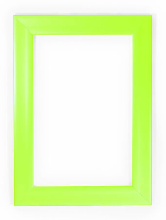 Light Green Frame On White Background Stock Photo, Picture And ...