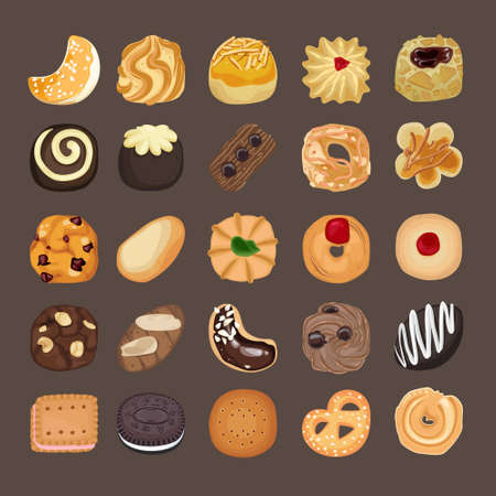 Various Sweet Cookies