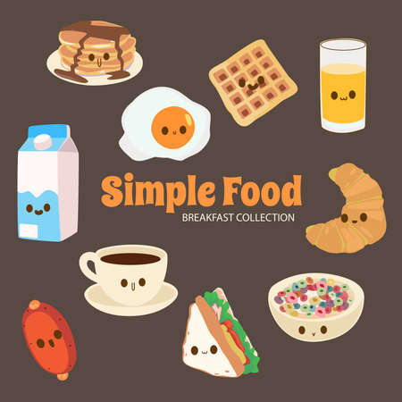 Colorful illustration of so many cute things