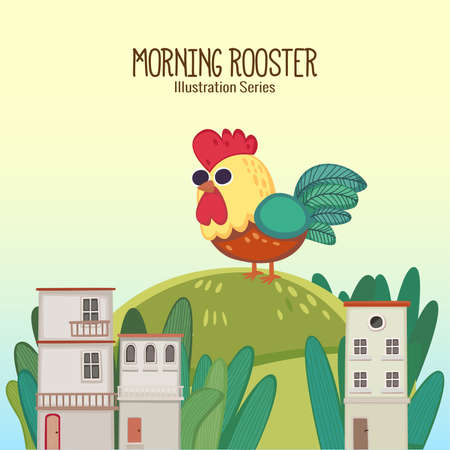 Beautiful morning comes with a sound of a singing rooster