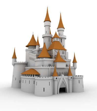 中世の宮殿 (印刷や web のイメージを使用することができます) 写真素材