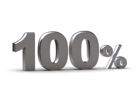 The image represents discount - 100 % (can be used for printing and web) Stock Photo