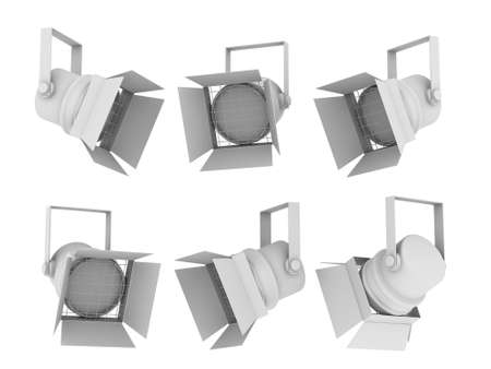 Set of images of spotlights from the different points of view 스톡 콘텐츠
