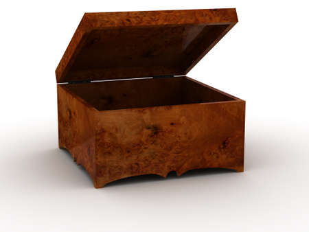 clear wooden chest (image can be used for printing or web)