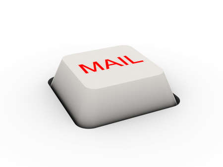 button mail (image can be used for printing or web) Stock Photo - 11556559