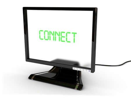 connect monitor(image can be used for printing or web) Stock Photo - 11556567