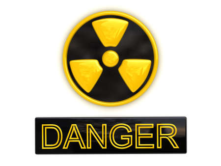 radium: Danger radioactive sign (image can be used for printing or web) Stock Photo