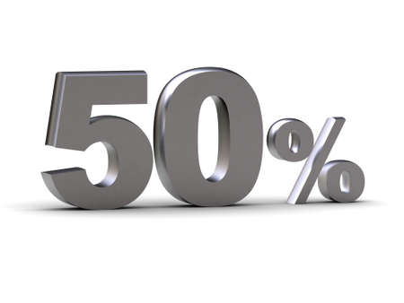 The image represents discount - 50 % (can be used for printing and web)
