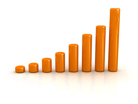 conceptual progress chart Stock Photo - 13109520