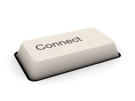 Connect - keyboard button Stock Photo - 13109432
